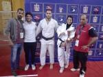 يمني عامر تحرز الذهبية وأحمد عامر البرونزية بالبطولة العربية للجودو