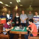 وفد من الإتحاد المصري للشطرنج لبحث تطوير اللعبة بالنادي