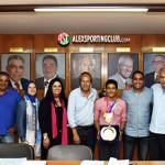 مجلس إدارة سبورتنج يكرم البطل أحمد زمزم