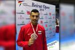صلاح الدين أحمد ثالث بطولة لبنان الدولية للتايكوندو