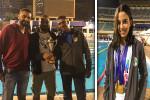 نائلة العجرودي تحصل على الذهبية وفريق البنات الثاني في الترتيب العام ببطولة الجمهورية للسباحة تحت ١١ سنة