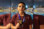كريم أحمد إبراهيم يواصل حصد الميداليات ببطولة الجمهورية للسباحة تحت ١٢ سنة