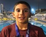 كريم إبراهيم يحقق ميداليتان ذهبيتان في بطولة الجمهورية للسباحة