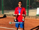 عبد الرحمن أحمد يفوز بالمركز الأول فى بطولة شمال أفريقيا للتنس