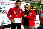 صلاح الدين خيرى يفوز بالمركز الثالث فى البطولة الدولية للتايكوندو