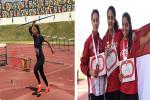 رولا سامح تحقق الميدالية البرونزية فى البطولة العربية لألعاب القوى