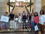 شهادة تقدير لزينة أحمد فتحي والمهندسة نادية قنديل في المسابقة العالمية لرسوم الأطفال