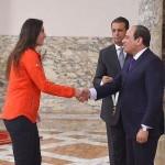 الرئيس يكرم نور الشربيني بوسام الجمهورية من الطبقة الأولى