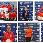 نتائج لاعبي النادي ببطولة  U.S Squash Junior Open