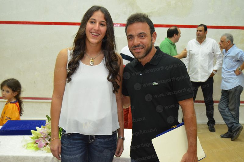حفل تكريم حبيبة محمد ببطولة العالم للإسكواش 2015